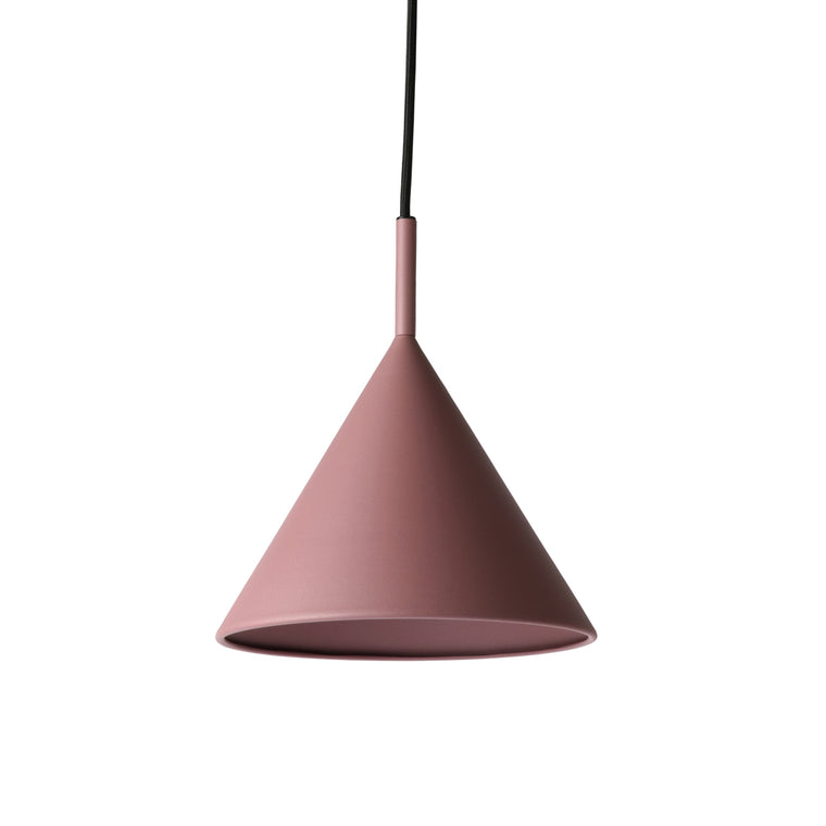 metal triangle pendant lamp m matt purple