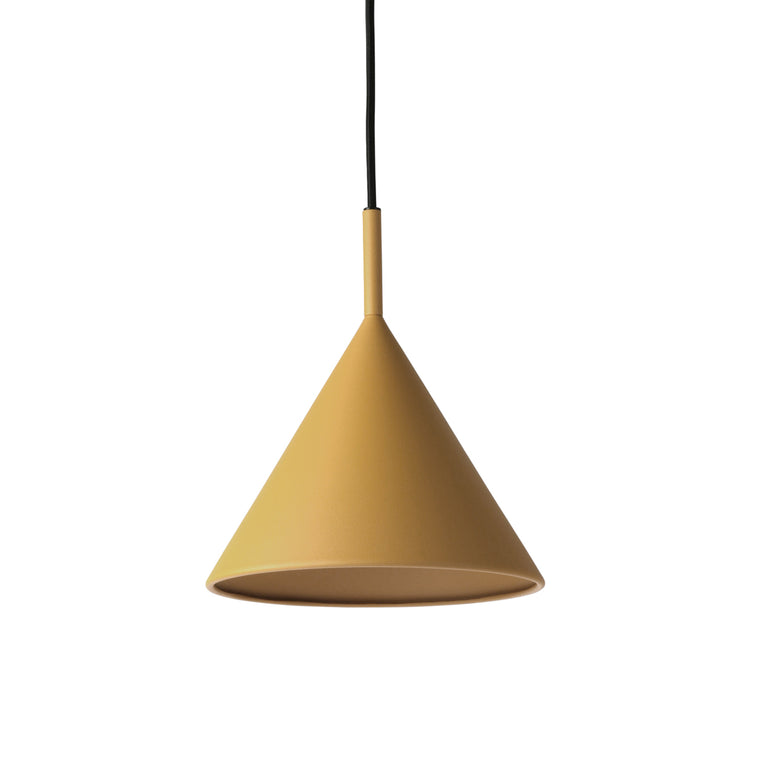 Metal triangle pendant lamp m matt ochre