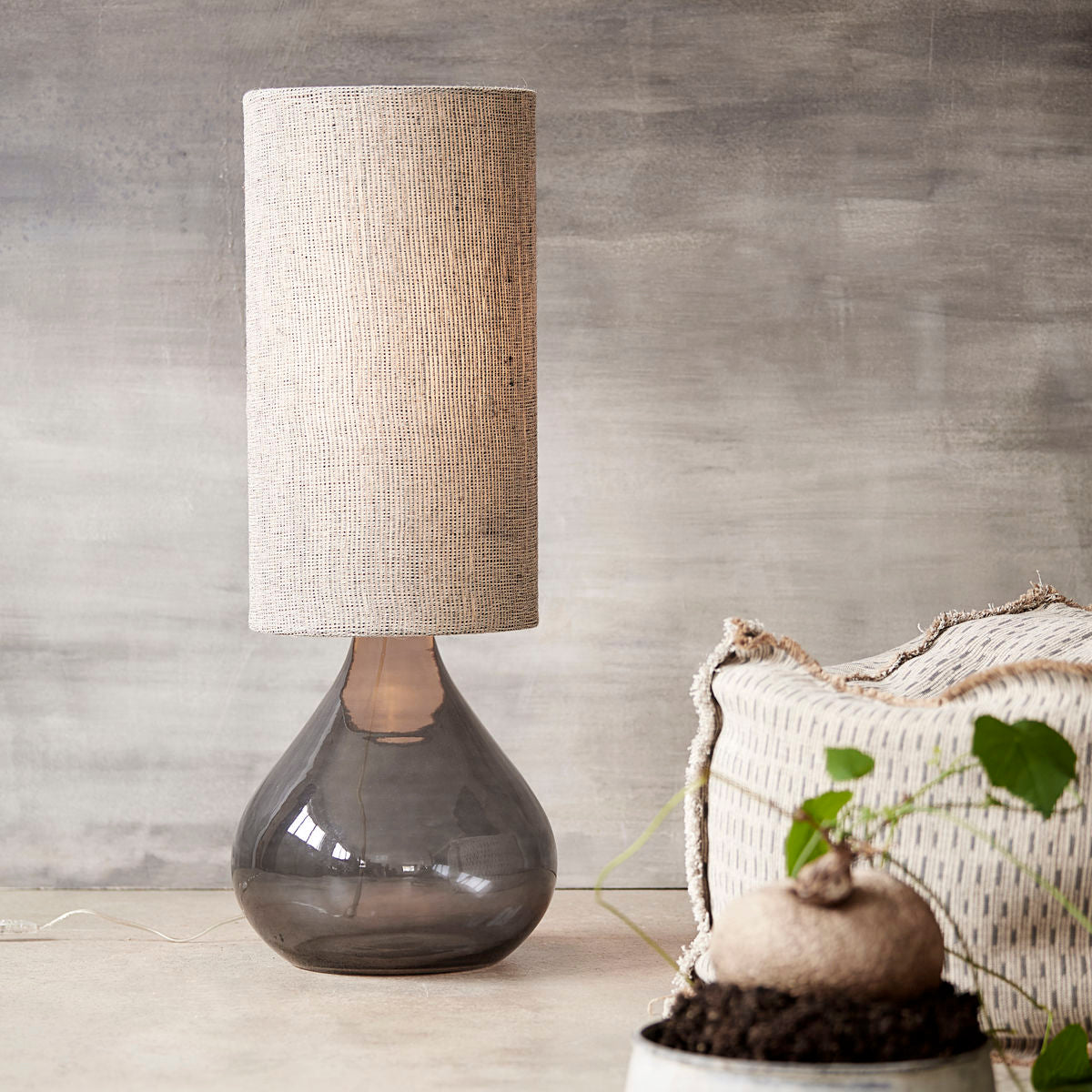 Lampshade Big Grey Brown