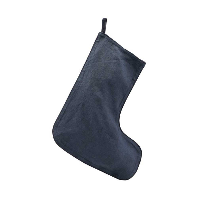 Linen Stocking Dark Blue