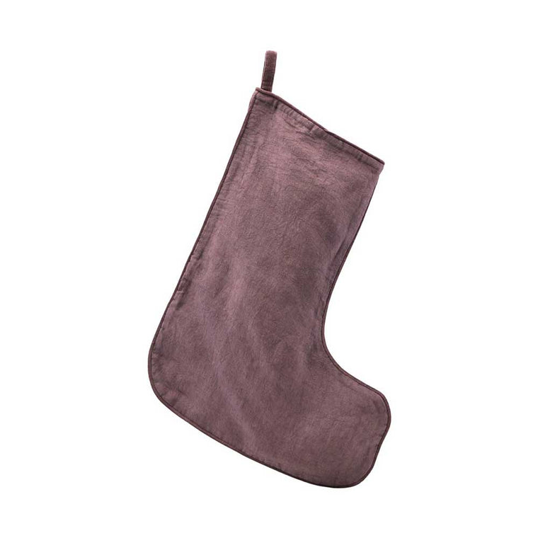 Linen Stocking Aubergine