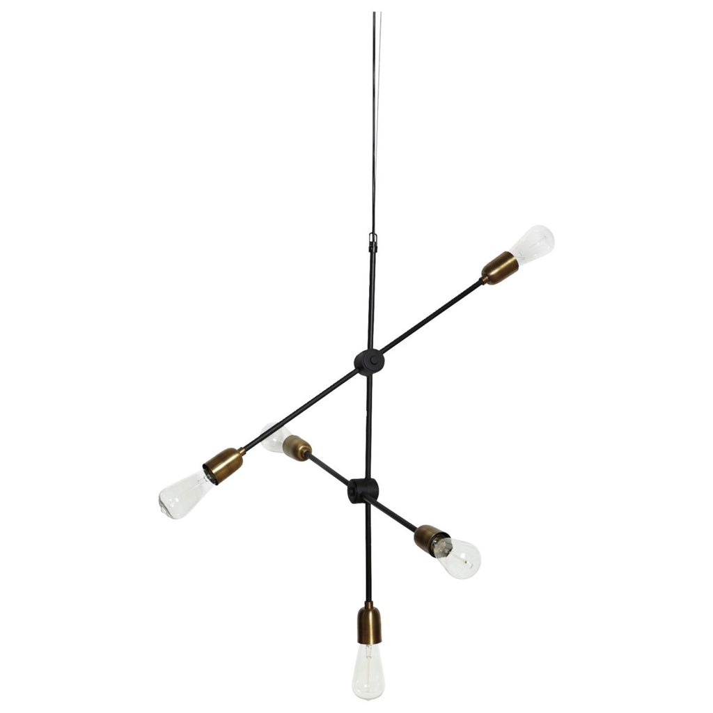 Lamp Molecular Black/ Brass House Doctor