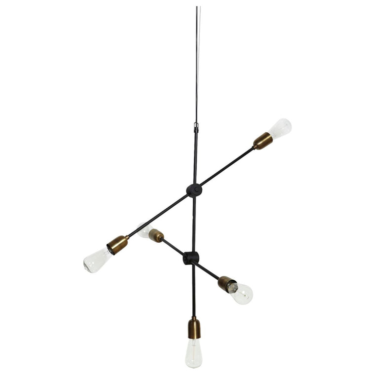 Lamp Molecular Black/ Brass