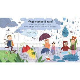 Lift the flap questions and answers Usbourne What makes it rain?