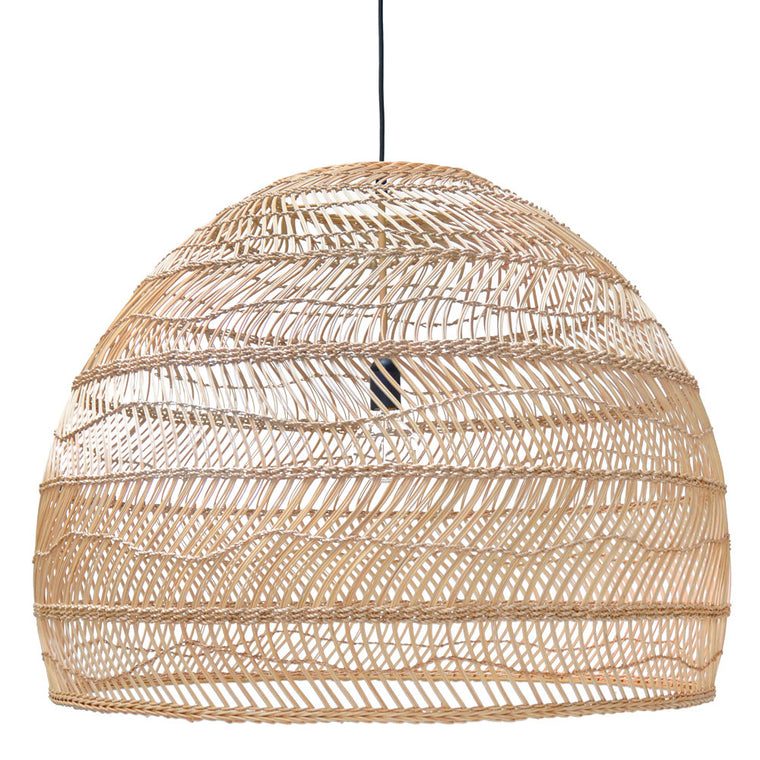 Wicker hanging lamp ball natural L