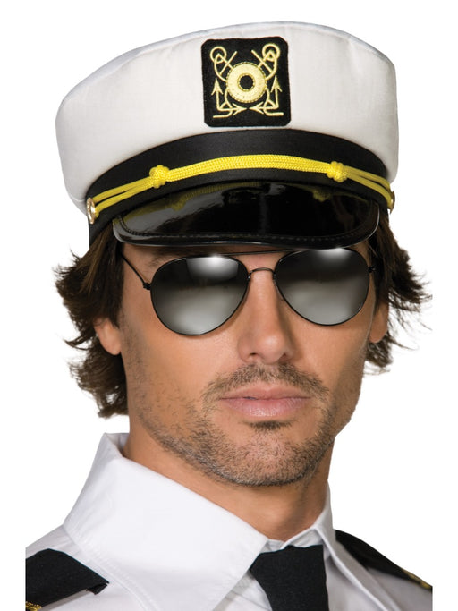White Captains Sailor Cap - The Ultimate Party Shop
