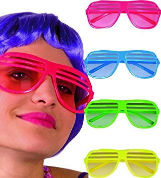 Neon Slat Glasses - The Ultimate Party Shop