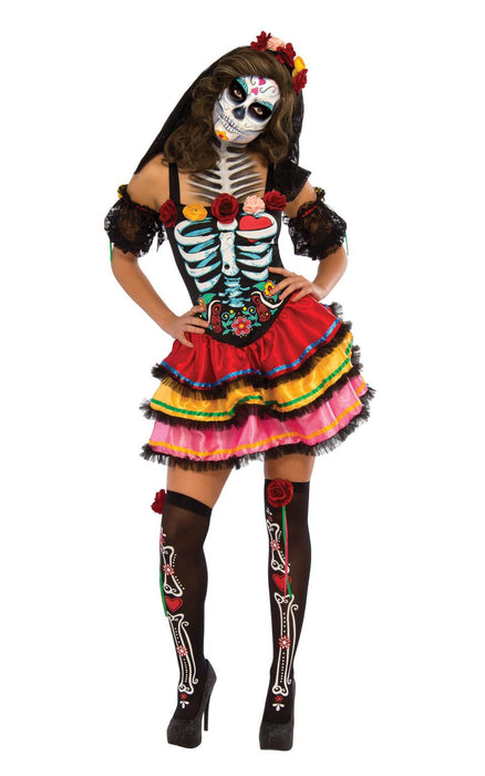 Day Of The Dead Senorita Female Costume