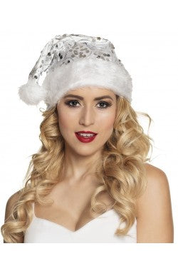 Silver Sequin Santa Hat - The Ultimate Balloon & Party Shop