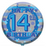"18"" Foil Age 14 Boys Balloon - The Ultimate Party Shop"