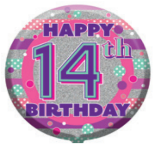 "18"" Foil Age 14 Girls Balloon - The Ultimate Balloon & Party Shop"