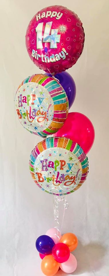 Birthday Bright Balloon Display - The Ultimate Party Shop