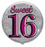 "18"" Foil Age Sweet 16 Balloon"