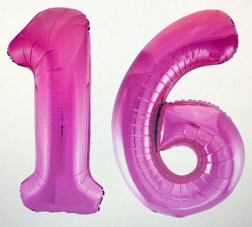 Age 16 Number Foil Balloons - The Ultimate Party Shop