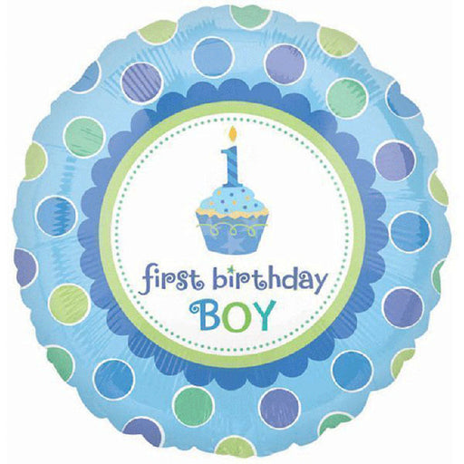 "18"" Foil Age 1 First Birthday Boy Balloon. - The Ultimate Balloon & Party Shop"