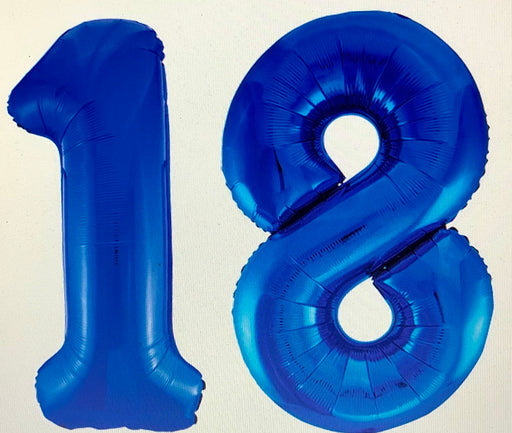 Age 18 Number Foil Balloons - The Ultimate Balloon & Party Shop