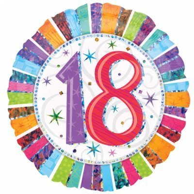 Happy Birthday Radiant Foil Balloon - Various Ages - The Ultimate Party Shop