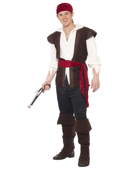 Pirate Male (Brown) Costume - The Ultimate Party Shop