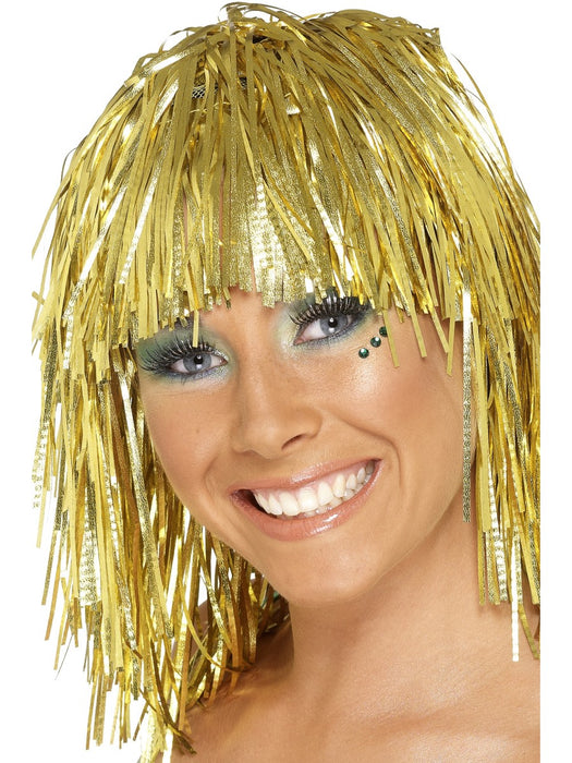 Tinsel Gold Wig - The Ultimate Party Shop
