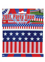 USA party tape 6m - The Ultimate Balloon & Party Shop