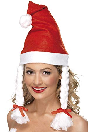 Santa Hat With Plaits - The Ultimate Balloon & Party Shop