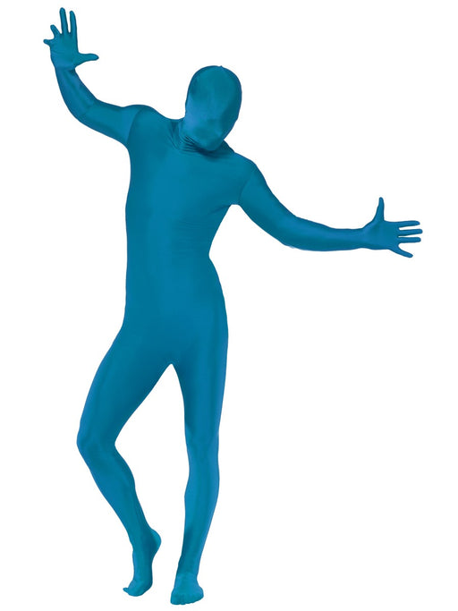 Second Skin Suit (Blue) Costume - The Ultimate Party Shop