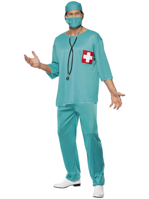 Surgeon Scrubs Costume - The Ultimate Party Shop