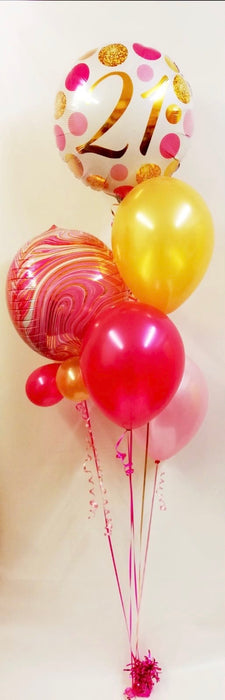 Birthday Orbz Assorted Display - Pink/Gold - The Ultimate Balloon & Party Shop
