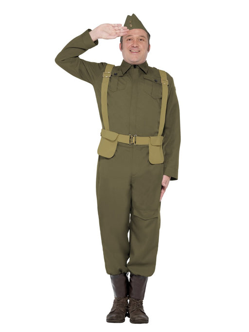 WW2 Home Guard Private Costume - The Ultimate Balloon & Party Shop