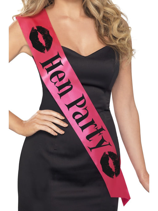 Hen Party Sash - Pink/Black
