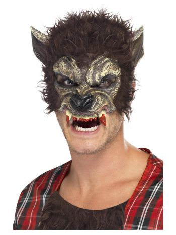Werewolf Half Mask (Brown) - The Ultimate Party Shop