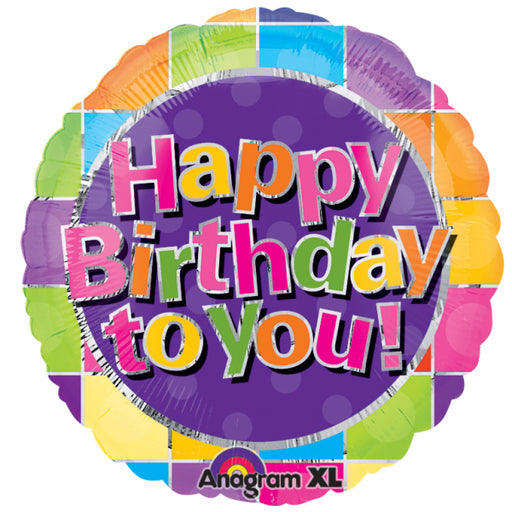 "18"" Foil Happy Birthday To You Bright - The Ultimate Party Shop"