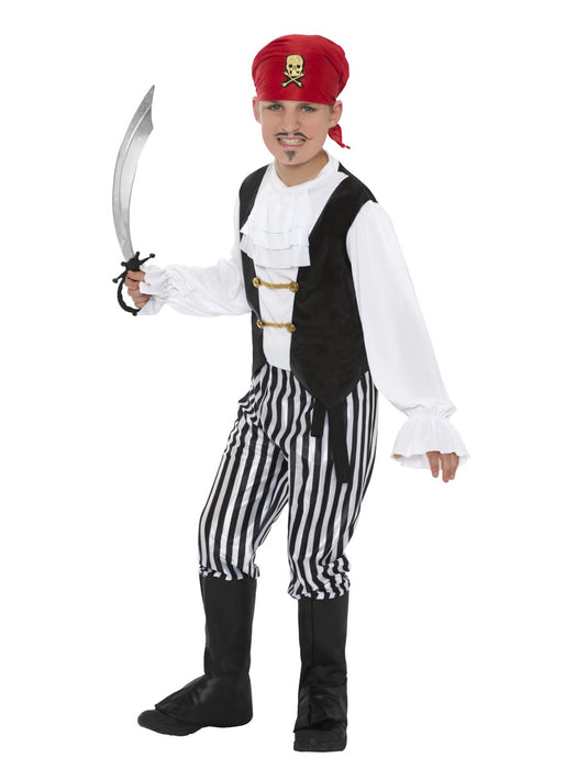 Pirate Boy Black/White Child's Costume - The Ultimate Party Shop