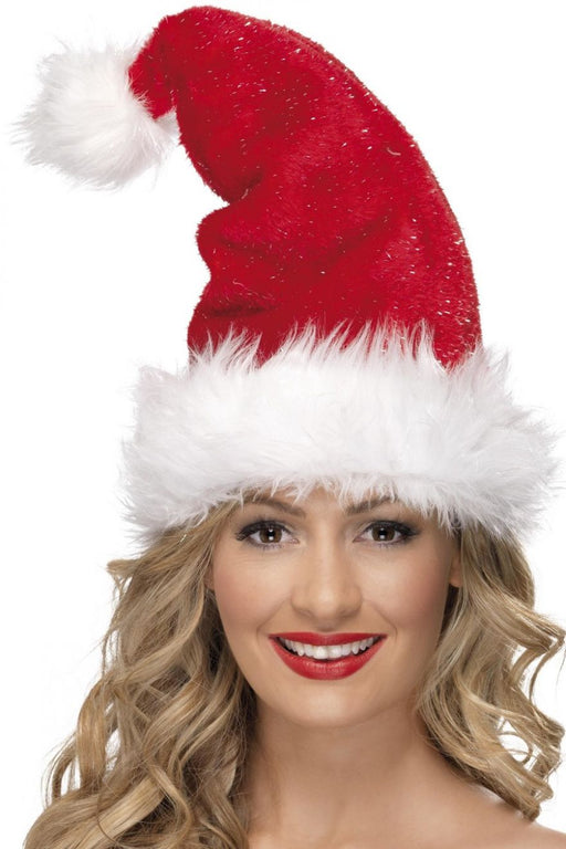 Glitter Santa Plush Hat - The Ultimate Balloon & Party Shop