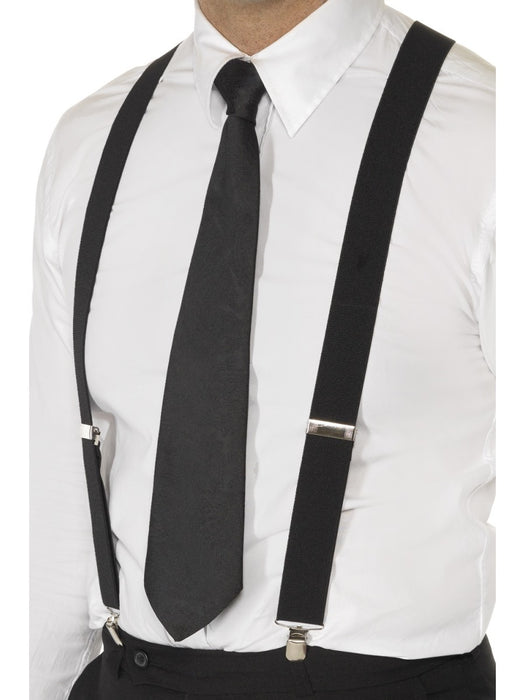 Mens Fashion Braces - Black - The Ultimate Party Shop