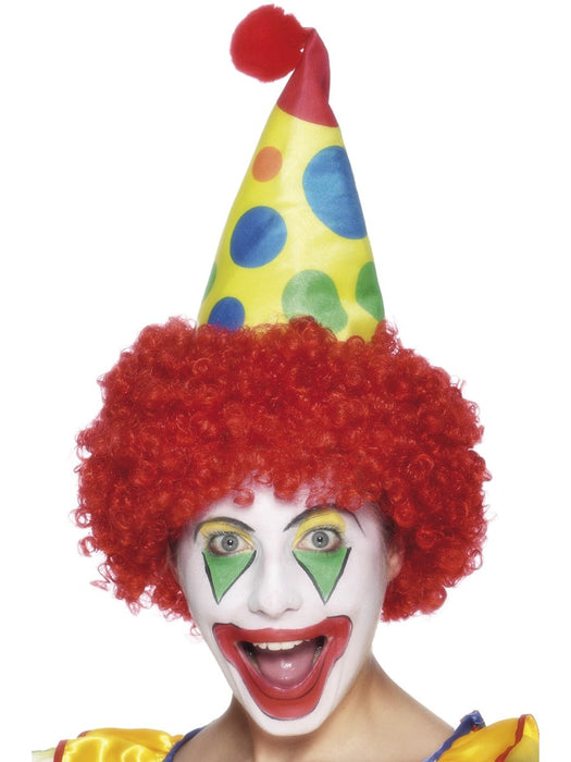 Spotty Clown Cone Hat - The Ultimate Party Shop