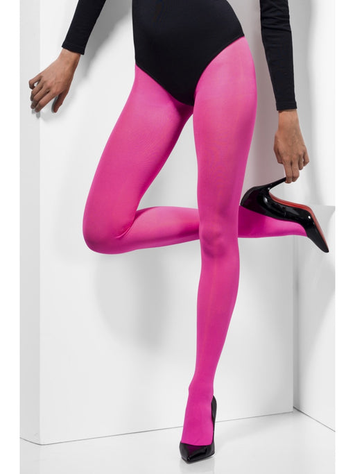 Opaque Coloured Tights - Pink