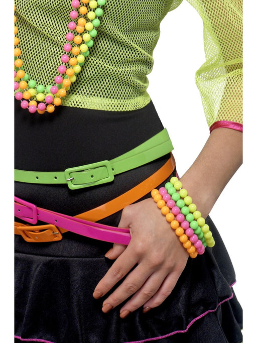 80's Style Bright Beaded Bracelet's - The Ultimate Party Shop