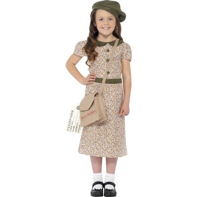 Evacuee Girl Costume - The Ultimate Party Shop