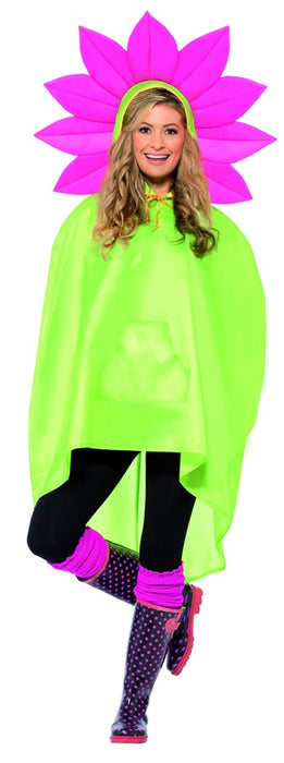 Rain Poncho - Flower - The Ultimate Party Shop