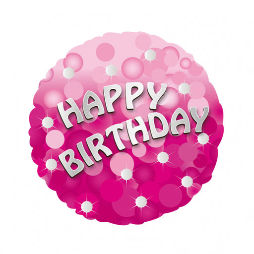 "18"" Foil Happy Birthday Pink Sparkle - The Ultimate Balloon & Party Shop"