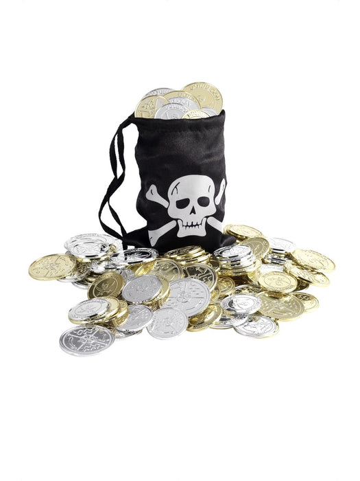 Pirate Coin Bag W/Coins - The Ultimate Party Shop