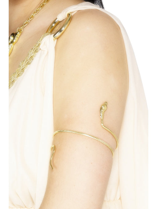 Gold Snake Design Egyptian Bracelet - The Ultimate Party Shop
