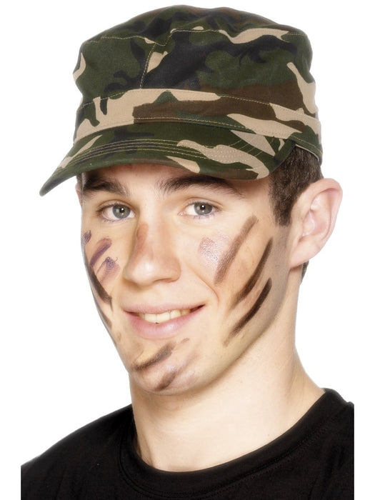 Camouflage Print Army Cap - The Ultimate Party Shop