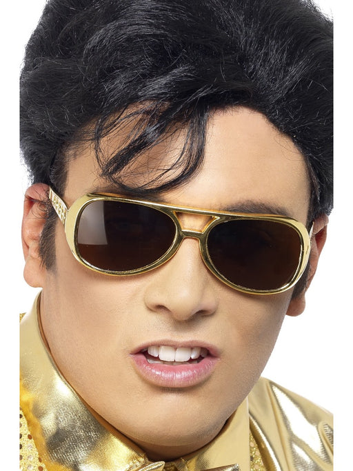 Elvis Gold Glasses - The Ultimate Party Shop