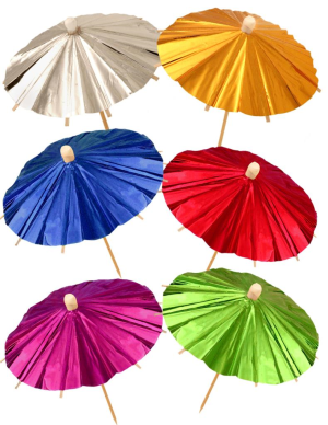 Cocktail Metallic Umbrellas