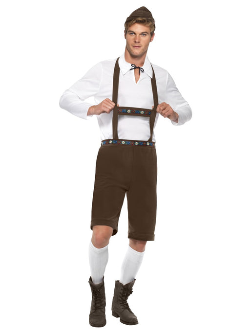 Oktoberfest Lederhosen Brown Costume - The Ultimate Party Shop