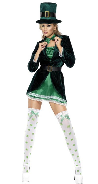 St Patrick's Lady Costume - The Ultimate Party Shop