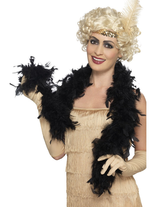 Feather Boa - Black - The Ultimate Balloon & Party Shop
