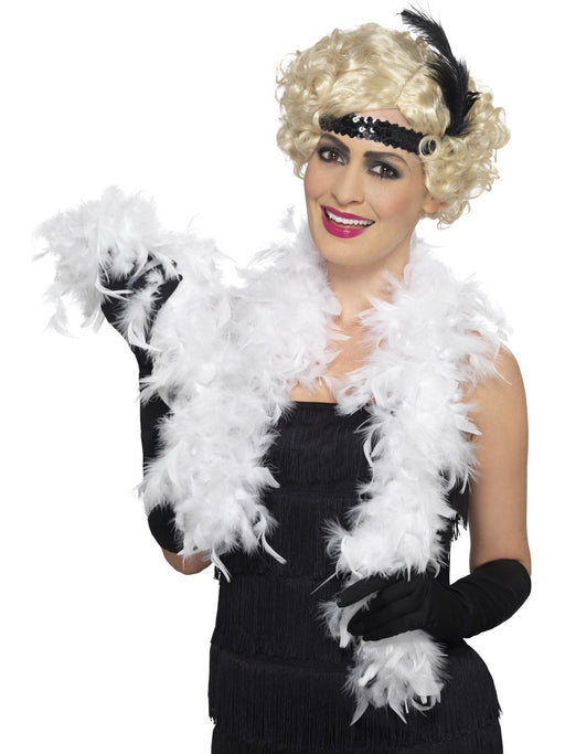Feather Boa - White - The Ultimate Party Shop